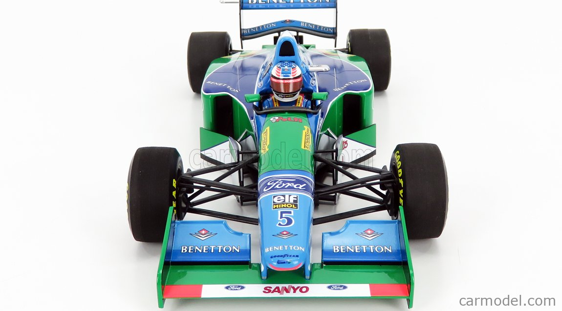 MINICHAMPS 510942705 Scale 1/18  BENETTON F1  B194 FORD MILD SEVEN N 5 GERMAN GP MICHAEL SCHUMACHER 1994 WORLD CHAMPION BLUE GREEN