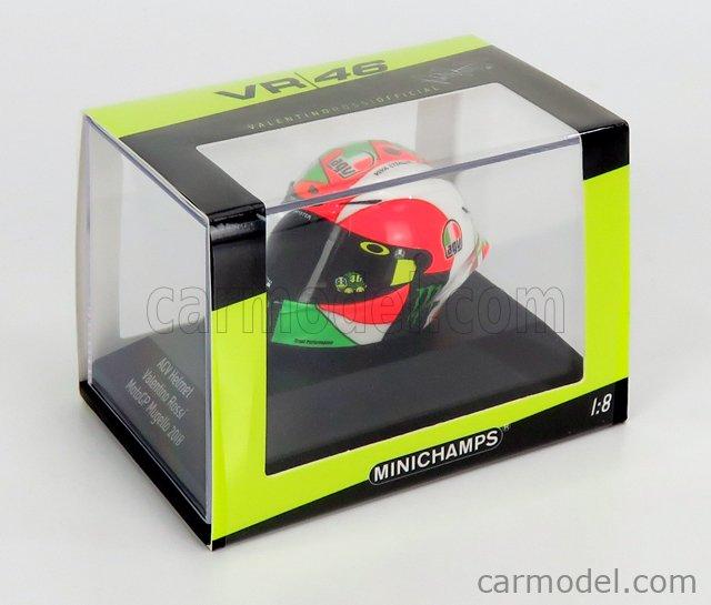 MINICHAMPS 399180086 Scale 1/8  AGV CASCO HELMET MUGELLO MOTOGP 2018 VALENTINO ROSSI VARIOUS