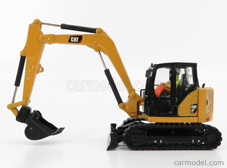 DM-MODELS 85596 Echelle 1/50  CATERPILLAR CAT308 CR ESCAVATORE CINGOLATO - TRACTOR HYDRAULIC MINI EXCAVATOR YELLOW BLACK