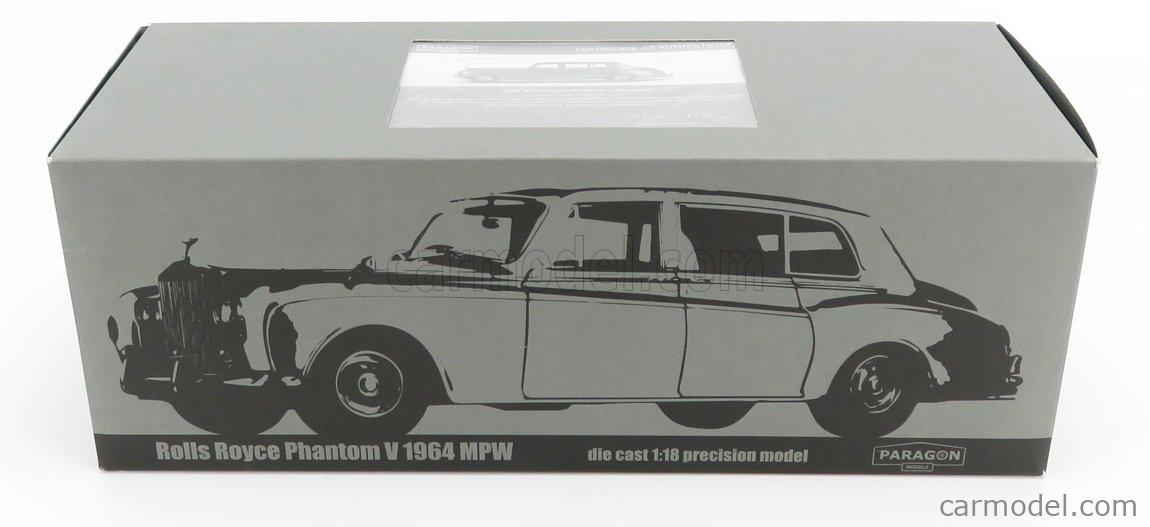 PARAGON-MODELS 98214R Scale 1/18  ROLLS ROYCE PHANTOM V RHD 1964 GREY GUN METAL