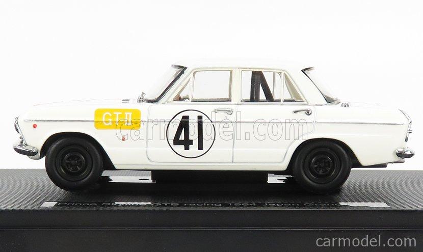 EBBRO EB44240 Scale 1/43  NISSAN PRINCE SKYLINE GTB N 41 RACING JAPAN GP 1964 WHITE RED