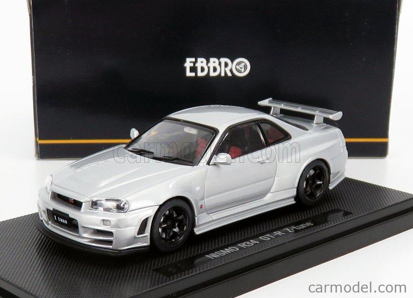EBBRO EB43710 Scale 1/43  NISSAN SKYLINE (R34) GT-R NISMO Z-TUNE 1989 SILVER