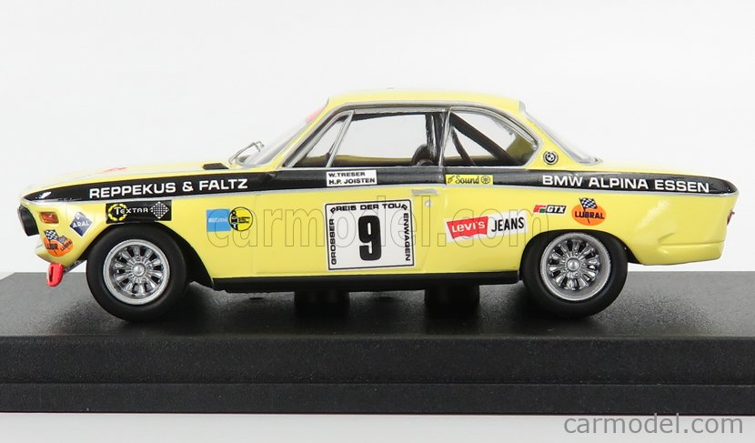 TROFEU TRRDE27 Scale 1/43  BMW 2800 CS N 9 6h NURBURGRING 1971 H.P.JOISTEN - W.TRESER YELLOW BLACK