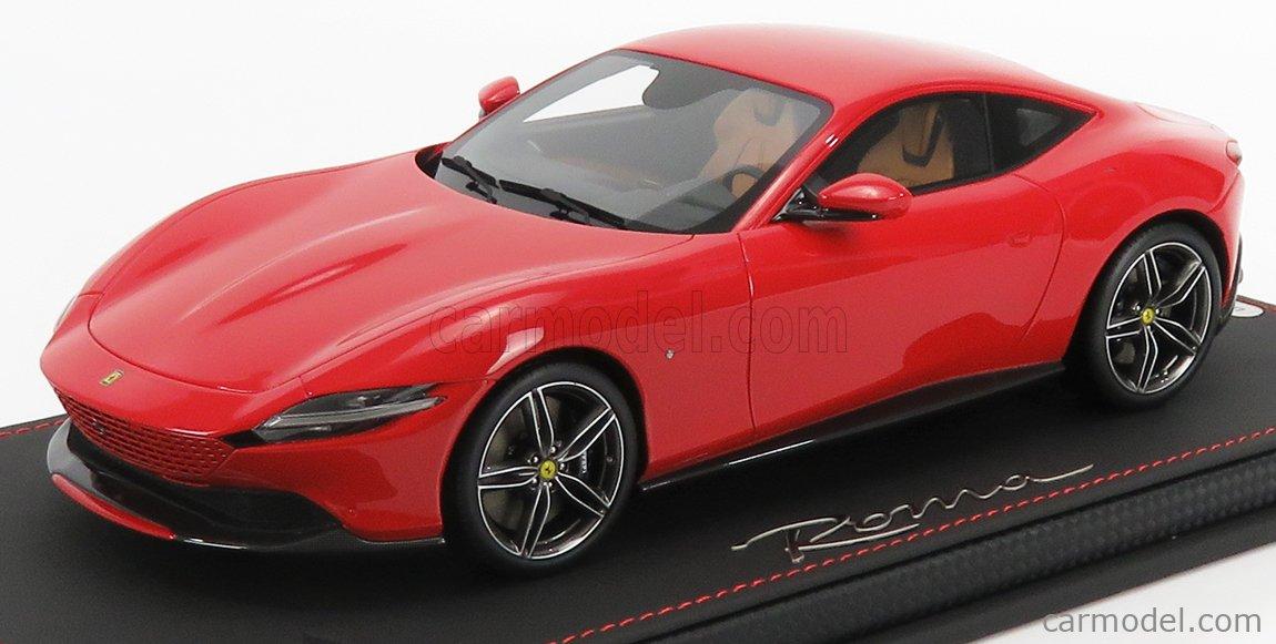 BBR-MODELS P18185E Scale 1/18  FERRARI ROMA 2020 ROSSO CORSA 322 - RED