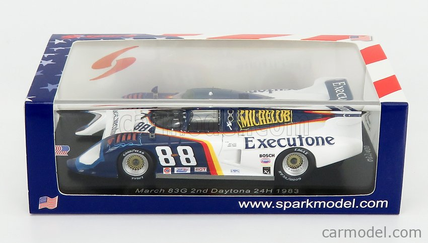 SPARK-MODEL US067 Scale 1/43  MARCH 83G N 88 2nd 24h DAYTONA 1983 T.WOLTERS - R.LANIER - M.HINZE WHITE BLUE