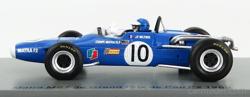 SPARK-MODEL SF185 Scale 1/43  MATRA F2  MS7 N 10 3rd DE PAU GP 1969 J.P.BELTOISE BLUE