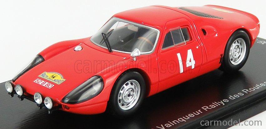SPARK-MODEL SF164 Масштаб 1/43  PORSCHE 904 GTS N 14 WINNER RALLY DES ROUTES DU NORD 1965 E.MEERT - A.PEDRO RED