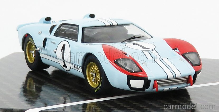 CMR CMR43055-BOX Scale 1/43  FORD USA GT40 MKII 7.0L V8 TEAM SHELBY AMERICAN INC. N 1 2nd (BUT REALLY WINNER) 24h LE MANS 1966 K.MILES - D.HULME LIGHT BLUE