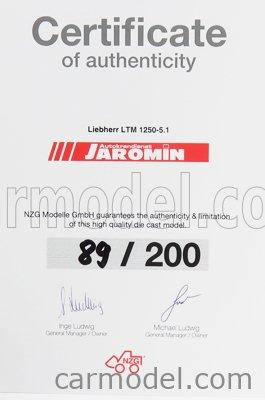 NZG 959/05 Masstab: 1/50  LIEBHERR CRANE TRUCK LTM 1250-5.1 - GRUE AUTOMOTRICE - MOBILKRAN - CRANE LIGHT BLUE RED