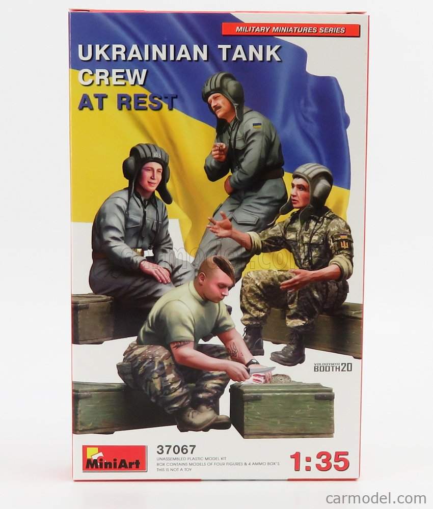 MINIART 37067 Echelle 1/35  FIGURES SOLDATI - SOLDIERS MILITARY UKRAINIAN TANK /