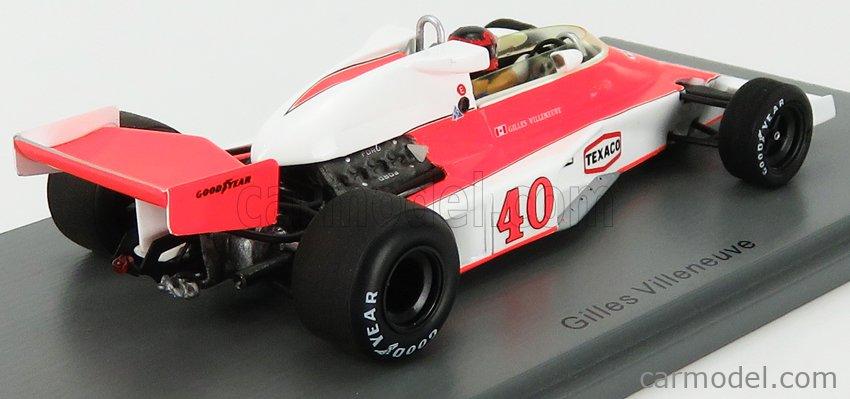 SPARK-MODEL S5744 Масштаб 1/43  McLAREN F1  M23 N 40 ENGLISH GP 1977 G.VILLENEUVE ORANGE WHITE