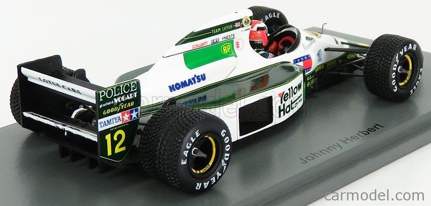 SPARK-MODEL S4591 Masstab: 1/43  LOTUS F1  102B N 12 AUSTRALIAN GP 1991 J.HERBERT GREEN WHITE
