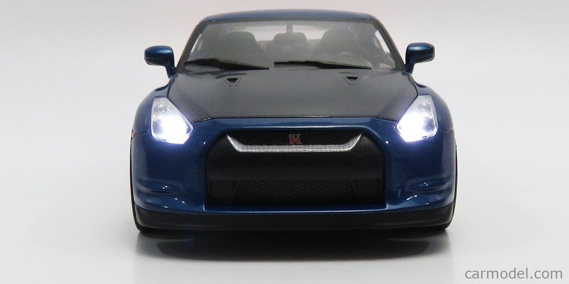 JADA 31142 Scale 1/18  NISSAN GT-R R35 2009 BEN SOPRA - FAST & FURIOUS 7 2015 WITH BRIAN'S FIGURE MATT BLUE BLACK