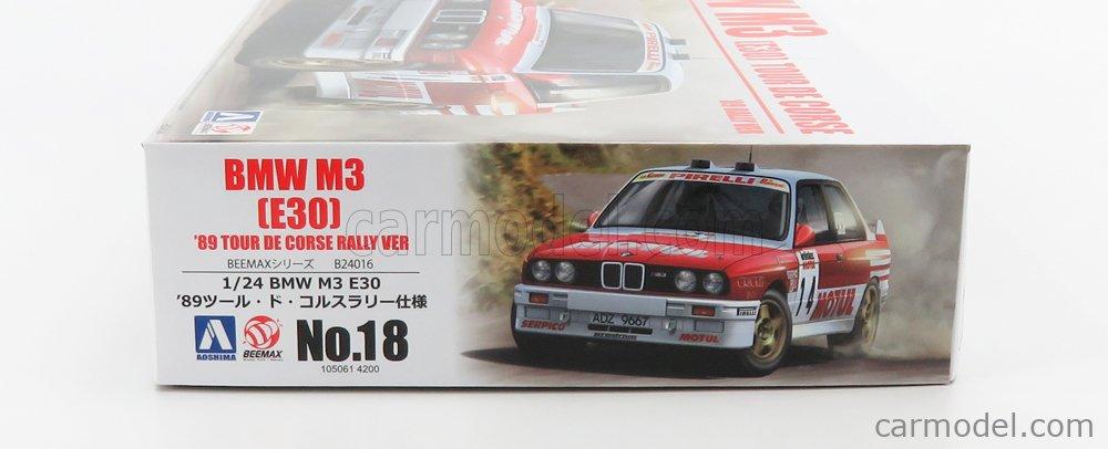 BEEMAX B24016 Scale 1/24  BMW 3-SERIES M3 (E30) N 14 RALLY TOUR DE CORSE 1989 F.CHATRIOT - M.PERIN - N 3 RALLY TOUR DE CORSE 1989 B.BEGUIN - J.B.VIEU /