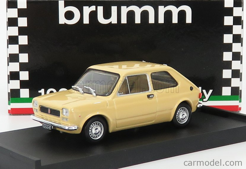 BRUMM R605-03 Escala 1/43  FIAT 127 1 SERIES 3-DOOR 1972 GIALLO TAHITI - YELLOW