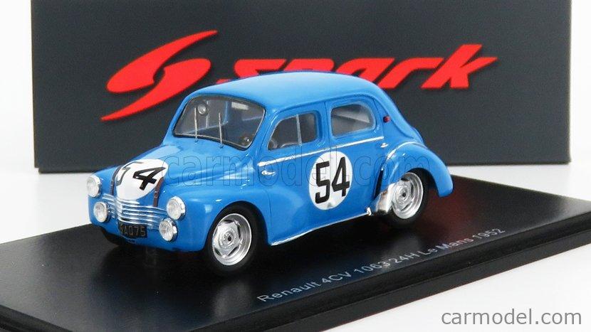 Details about  /Renault 4cv 1063 #56 Le Mans 1952 J.E Pairard spark 1:43 s5223 Vernet J show original title