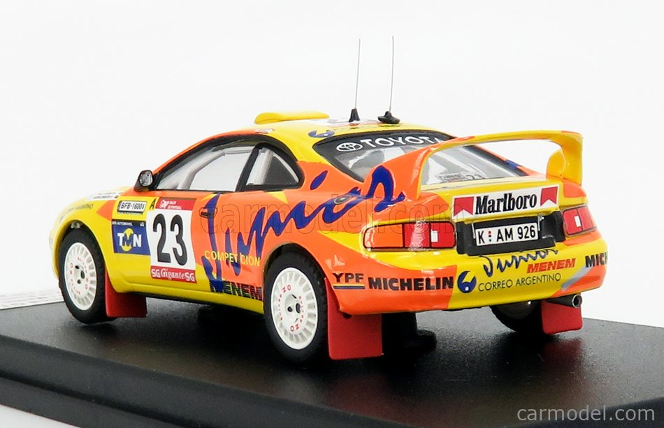 TROFEU TRRAL101 Scale 1/43  TOYOTA CELICA CT FOUT N 23 RALLY PORTUGAL 1997 R.SUFAN - M.CHRISTIE YELLOW ORANGE