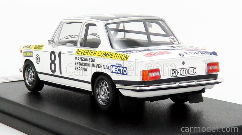 TROFEU TRRFR21 Scale 1/43  BMW 2002 (night version) N 81 RALLY MONTECARLO 1977 B.FERNANDEZ - M.BRASA WHITE