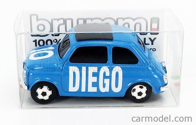 BRUMM BR066 Масштаб 1/43  FIAT 500 BRUMS N 10 - DIEGO LIGHT BLUE