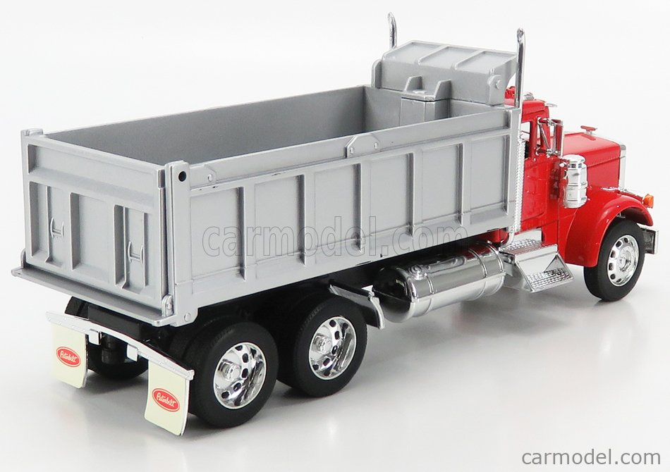 WELLY WE39944 Scale 1/32  PETERBILT 379 TRUCK 3-ASSI CASSONE RIBALTABILE 1987 RED SILVER
