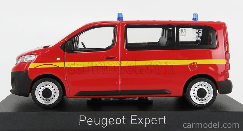 NOREV 479867 Масштаб 1/43  PEUGEOT EXPERT MINIBUS SAPEURS POMPIERS 2016 RDE YELLOW