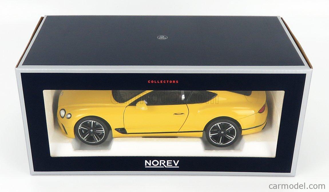 NOREV 182786 Scale 1/18  BENTLEY CONTINENTAL GT 2018 MONACO YELLOW