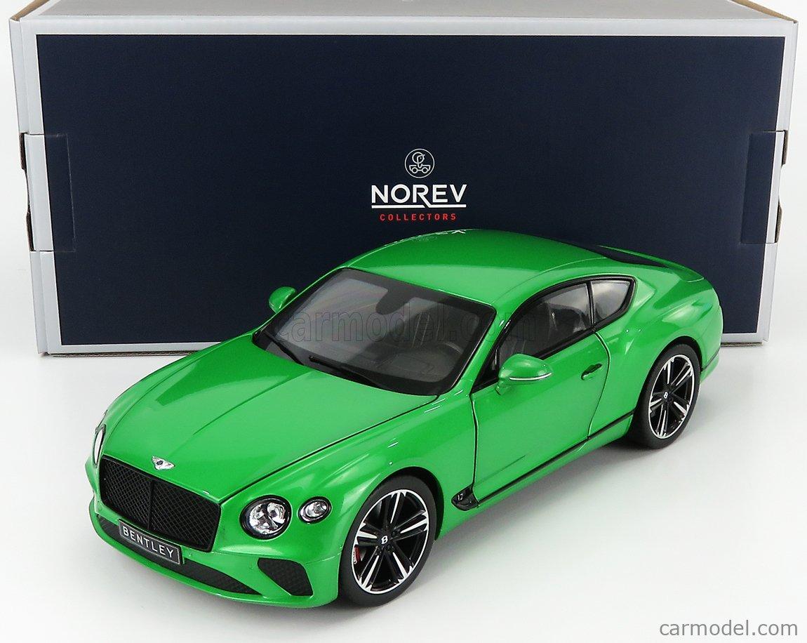NOREV 182784 Scale 1/18  BENTLEY CONTINENTAL GT 2018 APPLE GREEN