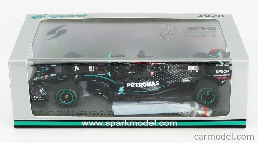 SPARK-MODEL S6488 Scala 1/43  MERCEDES BENZ F1  W11 EQ PERFORMANCE TEAM AMG PETRONAS MOTORSPORT N 44 WINNER TURKISH GP LEWIS HAMILTON 2020 - 7 TIMES WORLD CHAMPION BLACK