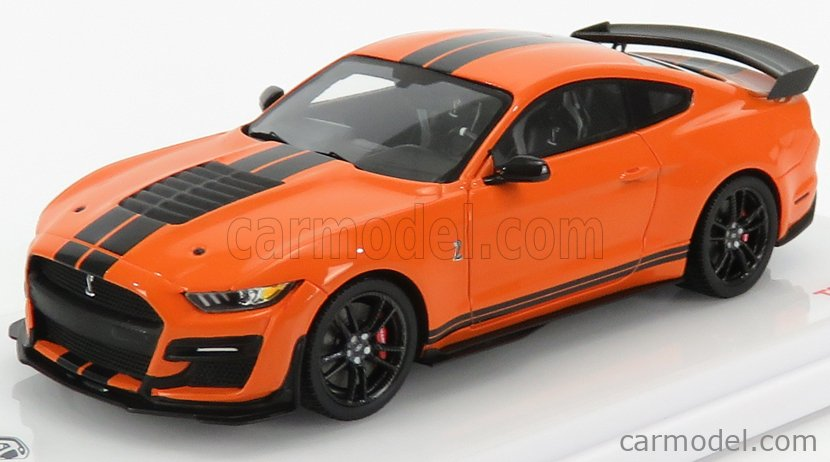 TRUESCALE TSM430479 Masstab: 1/43  FORD USA MUSTANG SHELBY GT500 COUPE 2020 ORANGE BLACK
