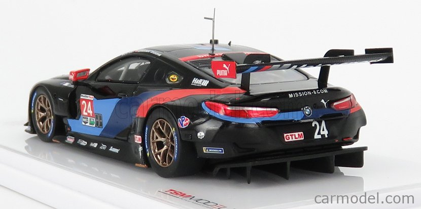 TRUESCALE TSM430432 Masstab: 1/43  BMW 8-SERIES M8 GTE 4.0L TURBO V8 TEAM RLL N 24 PETIT LE MANS 2018 C.DE PHILLIPPI - B.AUBERLEN - A.SIMS WHITE RED BLUE