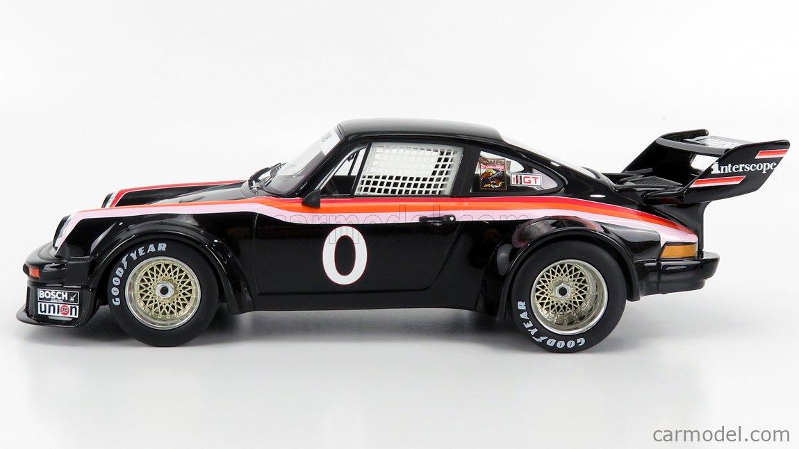 TRUESCALE TS0301 Masstab: 1/18  PORSCHE 934/5 TEAM INTERSCOPE RACING N 0 WINNER 100 MILES IMSA LAGUNA SECA 1977 BLACK RED