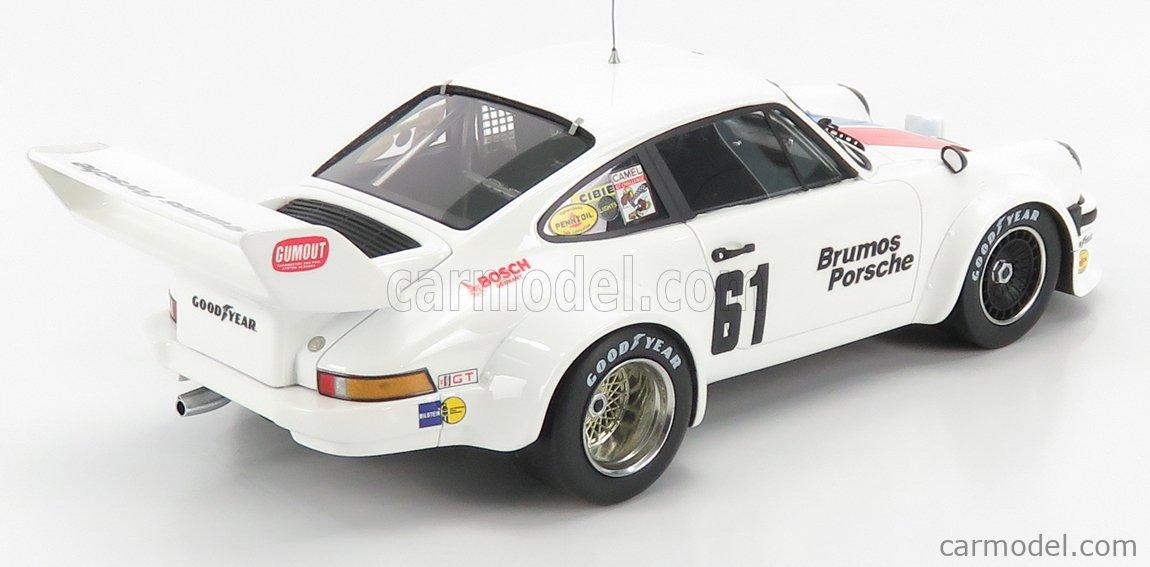TRUESCALE TS0300 Masstab: 1/18  PORSCHE 934/5 TEAM BRUMOS RACING N 61 3rd 12h SEBRING 1977 WHITE