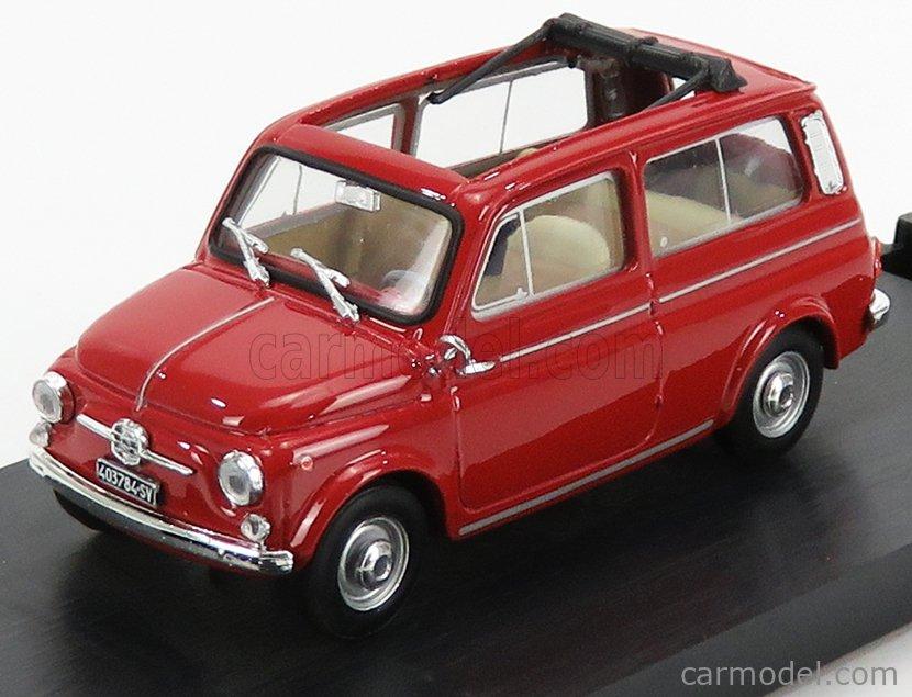 BRUMM R424-02-UPD-2020 Echelle 1/43  FIAT 500 GIARDINIERA APERTA 1960 RED