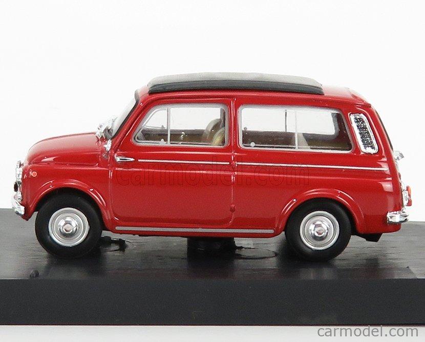 BRUMM R425-02-UPD-2020 Echelle 1/43  FIAT 500 GIARDINIERA CHIUSA 1960 RED