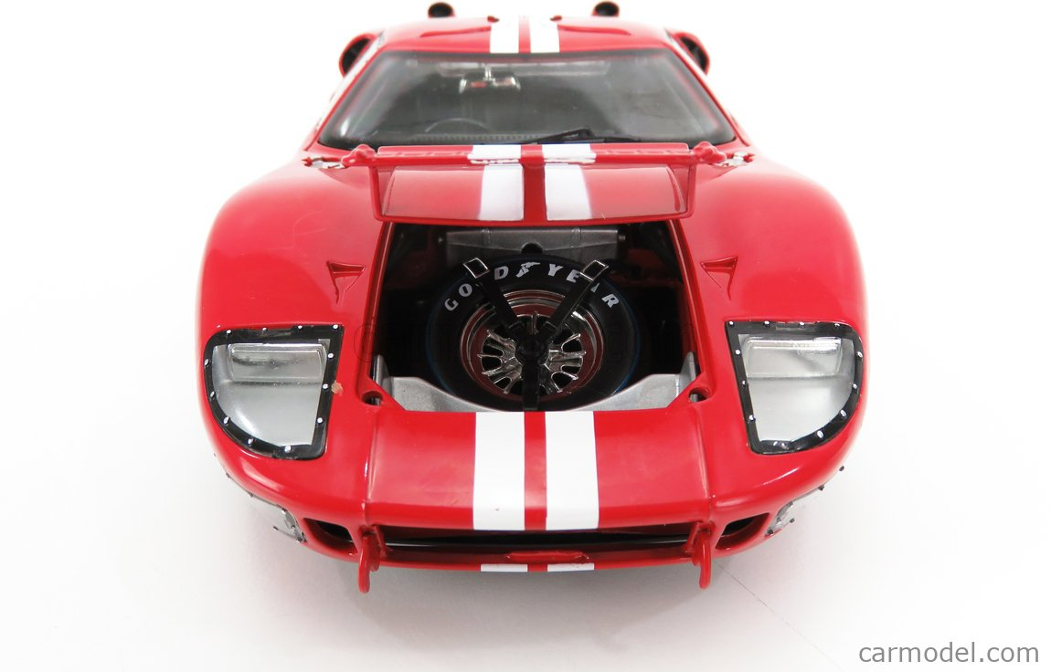 SHELBY-COLLECTIBLES SHELBY406 Scale 1/18  FORD USA GT40 MKII 7.0L V8 TEAM FORD MOTORSPORT N 3 24h LE MANS 1966 D.GURNEY - J.GRANT RED WHITE