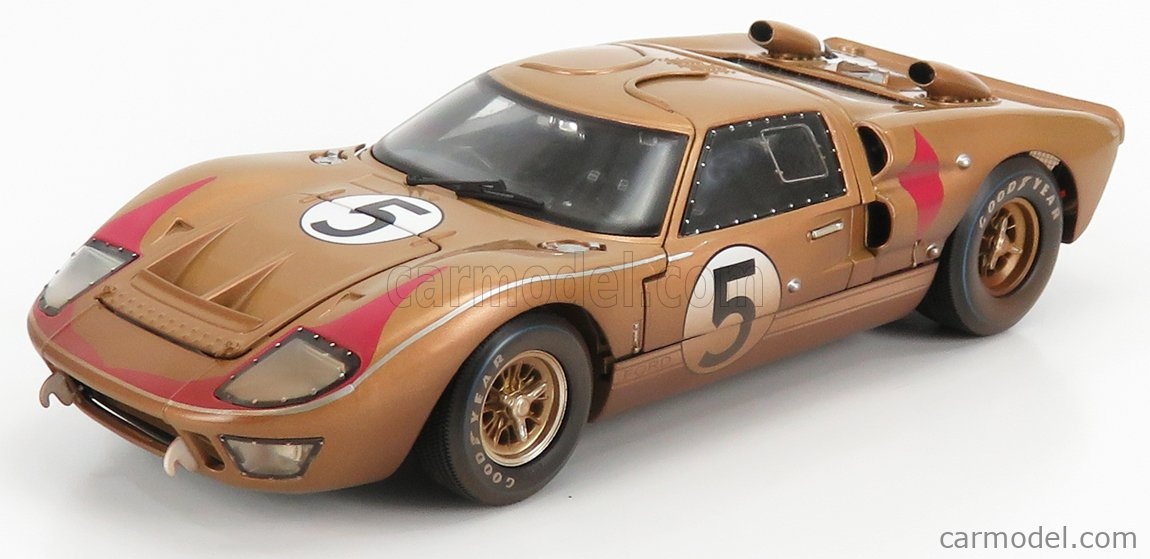 SHELBY-COLLECTIBLES SHELBY430 Scale 1/18  FORD USA GT40 MKII 7.0L V8 TEAM HOLMAN & MOODY DIRTY VERSION N 5 3rd 24h LE MANS 1966 R.BUCKNUM - D.HUTCHERSON BROWN MET