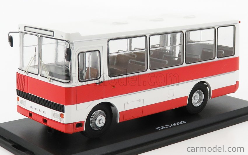 START SCALE MODELS SSMMP0095 Scale 1/43  GAZ 3203 AUTOBUS 1989 WHITE RED