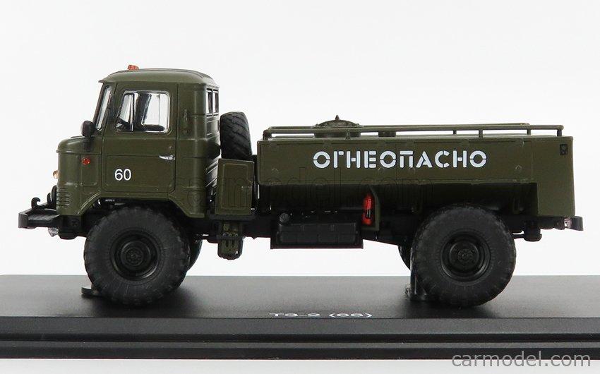 START SCALE MODELS SSMMP0078 Scale 1/43  GAZ 66 T3-2 TANKER TRUCK 1968 MILITARY GREEN