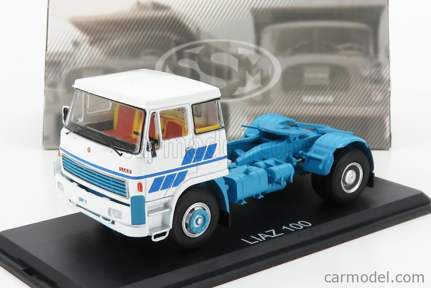 START SCALE MODELS SSM1423 Echelle 1/43  LIAZ 100 TRACTOR TRUCK 2-ASSI 1992 WHITE LIGHT BLUE