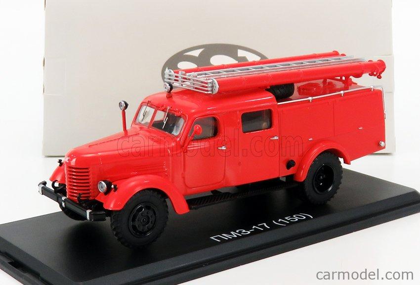 START SCALE MODELS SSM1408 Scale 1/43  ZIL ZIL-17 (150) TANKER TRUCK FIRE ENGINE 1961 RED
