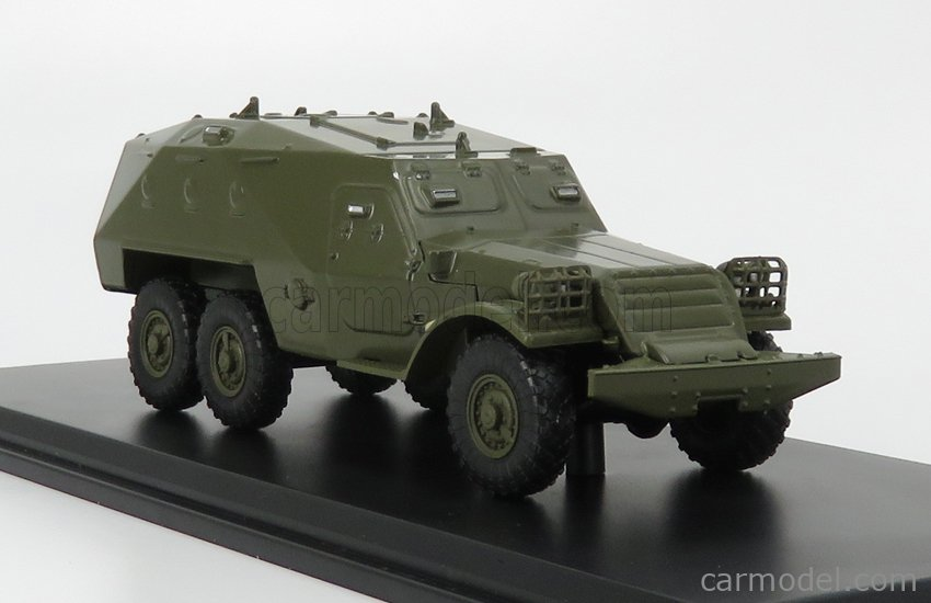 START SCALE MODELS SSM1396 Scale 1/43  PANZER BTR-152K TRUCK 6x6 BLINDATO 1951 MILITARY GREEN