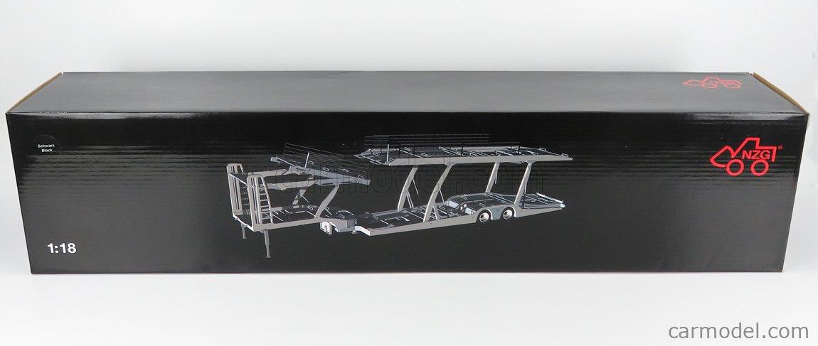 NZG LX10260051 Scale 1/18  SCANIA S730 V8 TRUCK CAR TRANSPORTER 2017 BLACK SILVER