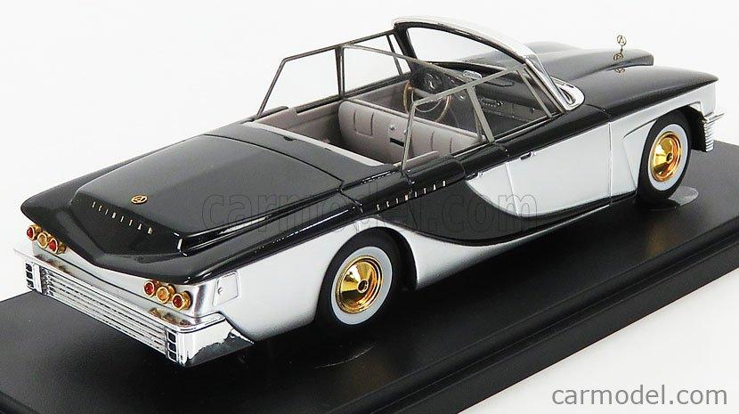 AVENUE43 ATC60060 Scale 1/43  BROOK STEVENS SCIMITAR TOWN CAR PHAETON USA CABRIOLET OPEN 1959 SILVER BLACK