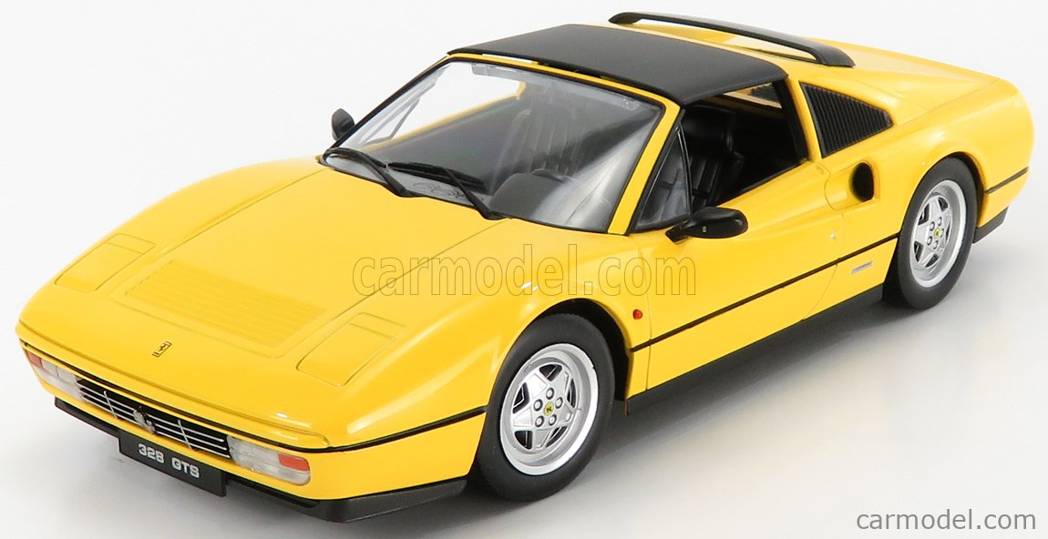 KK-SCALE KKDC180552 Scale 1/18  FERRARI 328 GTS SPIDER WITH REMOVABLE HARD-TOP 1985 YELLOW