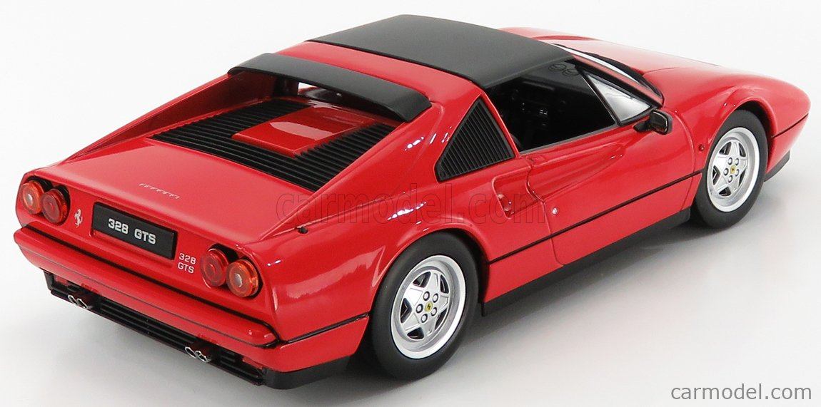 KK-SCALE KKDC180551 Scale 1/18  FERRARI 328 GTS SPIDER WITH REMOVABLE HARD-TOP 1985 RED