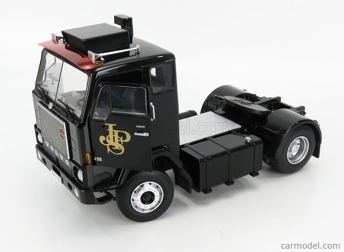ROAD-KINGS RK180066 Scala 1/18  VOLVO F88 TRACTOR TRUCK TEAM JPS 2-ASSI 1977 BLACK