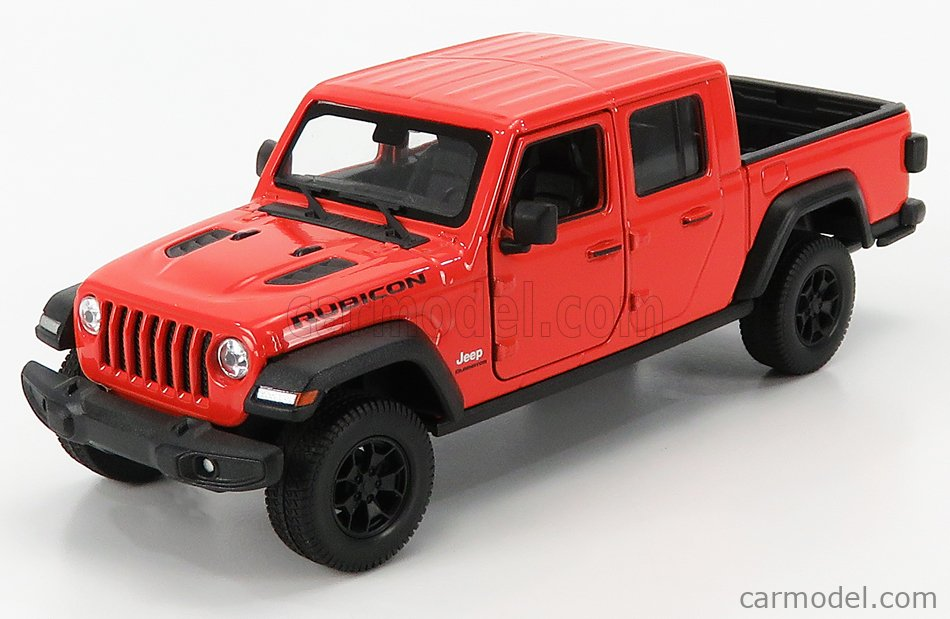 WELLY WE24103OR Masstab: 1/24  JEEP RUBICON PICK-UP 2019 ORANGE MET COPPER