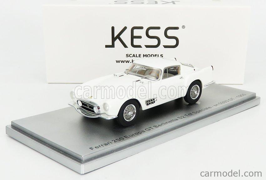 KESS-MODEL KE43056140 Scale 1/43  FERRARI 250 EUROPA GT BERLINETTA S2 TDF SPECIALE sn0393GT 1955 WHITE