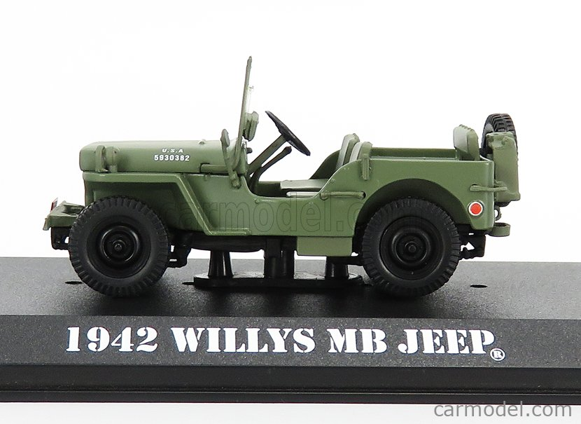 GREENLIGHT 86589 Masstab: 1/43  JEEP WILLYS MB OPEN 1942 - M-A-S-H MILITARY GREEN