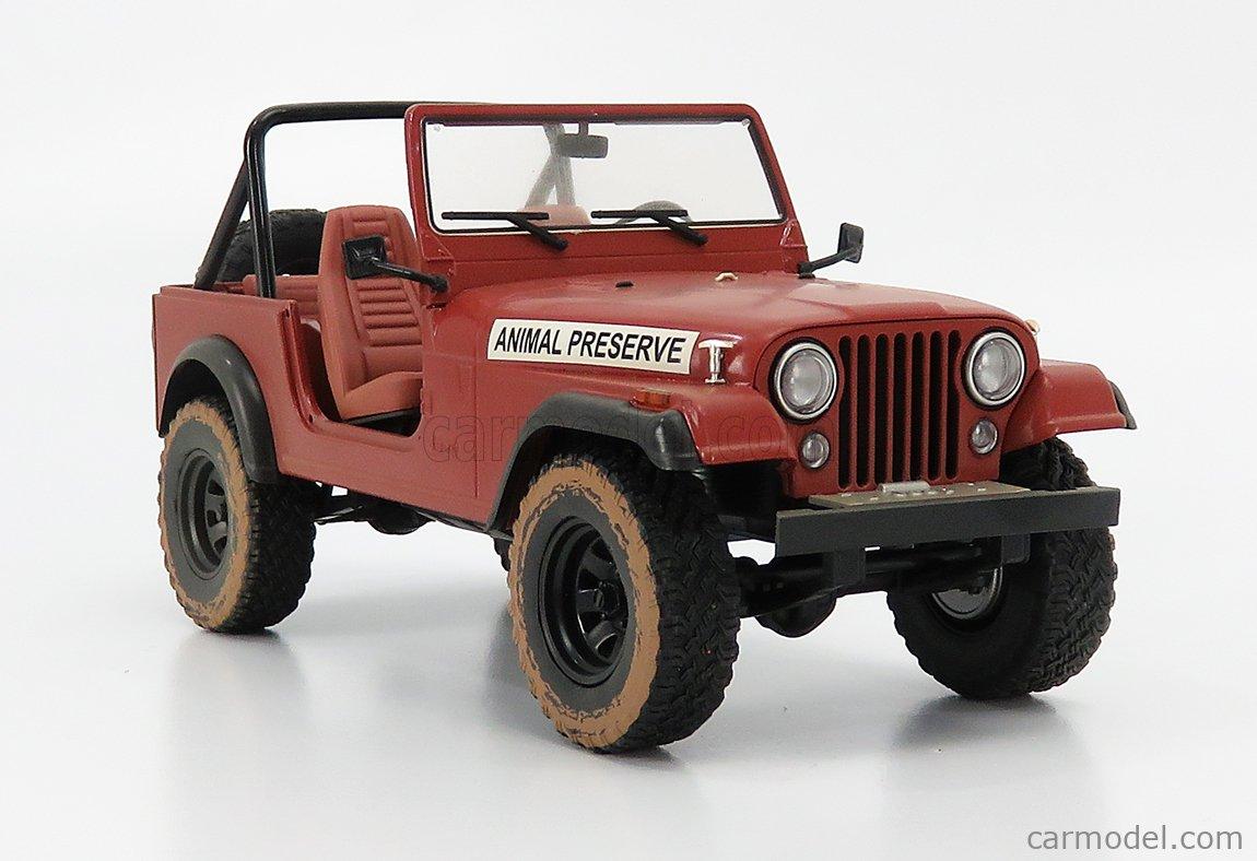 GREENLIGHT 19091 Masstab: 1/18  JEEP CJ-7 OPEN ANIMAL PRESERVE 1995 THE A-TEAM RED